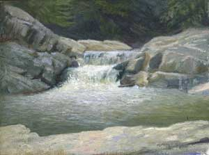 Painting of Linville River