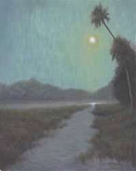 Night River, egg tempera painting by Daniel Ambrose