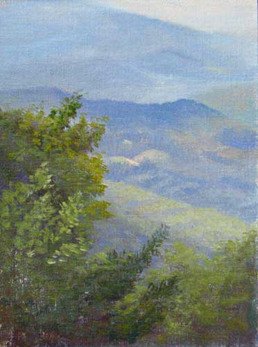 Mountain view painting by Daniel Ambrose