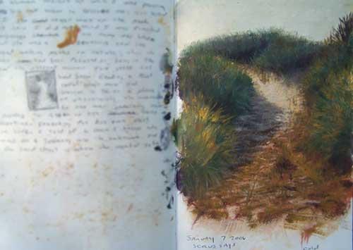 Daniel Ambrose sketchbook painting Dune Path
