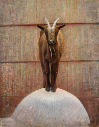 Daniel Ambrose, Sassy goat, egg tempera