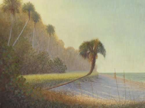 Daniel Ambrose, Morning Shadows, egg tempera painting