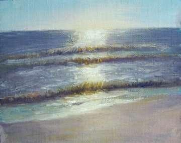 Sunrise, plein air painting