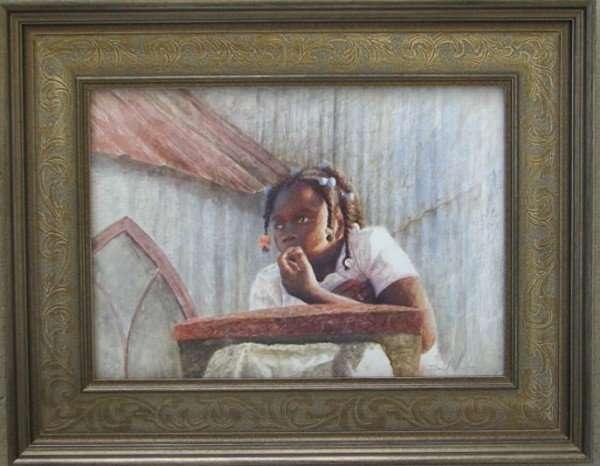 Daydreams, drybrush painting by Daniel Ambrose. At Cheryl Newby gallery