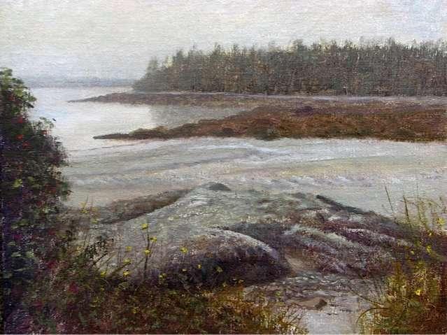 Driftwood Beach, plein air painting by Daniel Ambrose