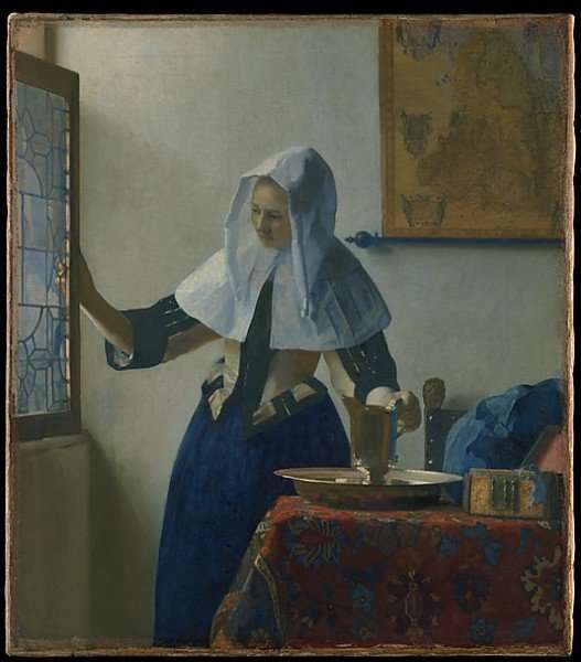 Young Woman with a Water Pitcher Johannes Vermeer