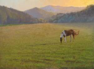 egg tempera painting of horse by Daniel Ambrose