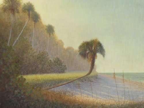 New Egg Tempera Painting: Morning Shadows