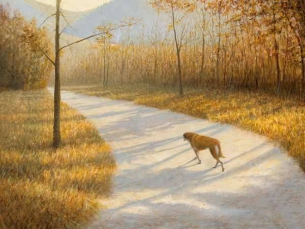 New Egg Tempera Painting: Travelin' Home