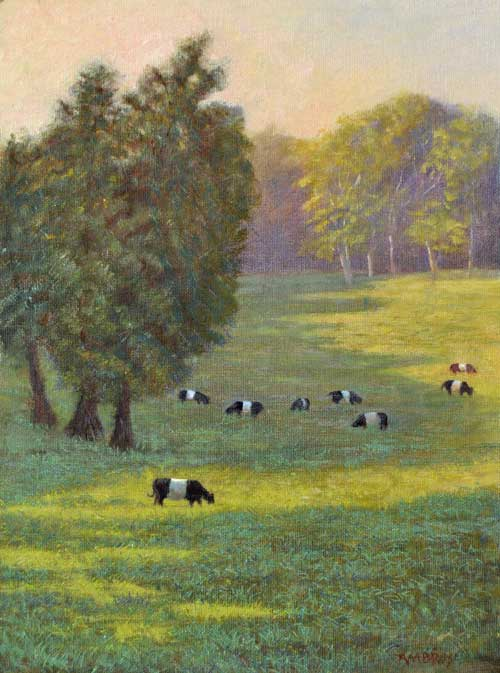 Belted Galloway Painting